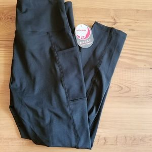 "NWT Bally Black 22"" Mid Calf Capri Leggings"